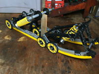 SKIDOO C7 Suspension skid frame Fully Rebuilt with 3 HPG Shocks