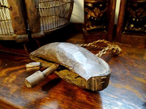 """primitive YAK COW BELL wooden HAND CARVED Cambodian 9 1/2"""" Cambridge Kitchener Area image 5"""