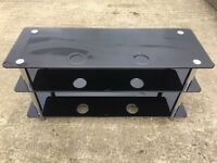Black Glass TV or Stereo Stand