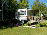 RV at Twin Pines Campground on Otter Lake