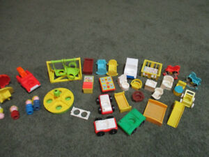 Fisher Price vintage doll house toys 1970's