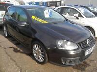 2008 VW Golf 2.0GT TDI 140 Black 83K 5Door A/C Excellent Condition