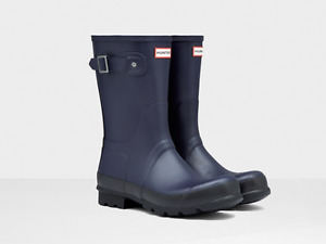 Hunter Men's Two Tone Short Rain Boots