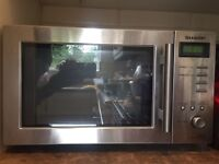 Sharp R26STM Digital Solo Microwave Oven Stainless Steel 22L 800W
