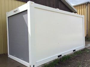 Strong-Stor mobile storage units~ roll-up door, steel framed