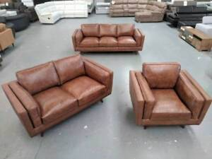 MAYFAIR LEATHER SOFA SET Richmond Yarra Area Preview