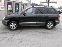 2005 SANTA FE GL  LOADED  FWD  NEWER TIRES  A MUST SEE  LOW KMS