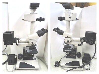 Nikon Optiphot Microscope Triocular Headufx-iiacfw10x Eyepiecesilluminator