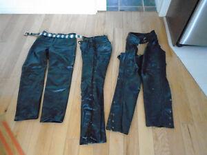 manteau pantalon cuir moto     tres peu nego