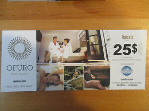 Coupons rabais au spa Ofuro à Morin-Heights ( $25 par personne)