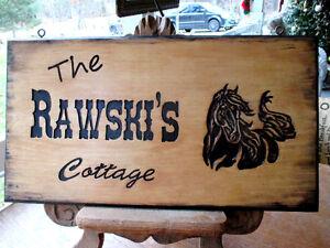 custom carved wood sign Kawartha Lakes Peterborough Area image 3