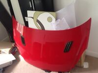 Red Vauxhall Corsa Bonnet with carbon decals