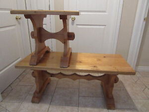 HAND MADE PINE TABLES  50.00 each or both pieces for 80.00