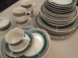 Buckingham Dinnerware 27 pc 5 piece place setting for 5