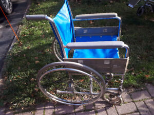 Everest&Jennings Aluminum Assisted Wheelchair l-t blue used