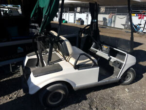 Golf cart bag holder and convertible cover