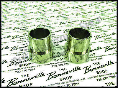 TRIUMPH T120 T140 TR6 TR7 650 750 EXHAUST ADAPTERS PUSH OVER PIPES PN# TBS-0220