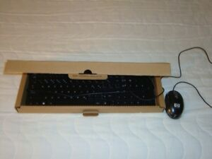 HP new wired keyboard + optical mouse