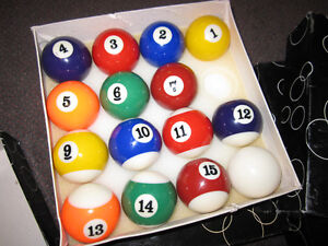 Billiard Balls - Traditional Sets ( Missing 8-Balls) - in Box Kitchener / Waterloo Kitchener Area image 3