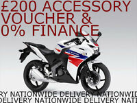 Honda CBR125R, New, Free £200 Accessory Voucher 0% Finance Available