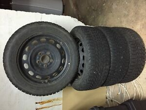 4 Winter Tires with Rims 205 55R 16