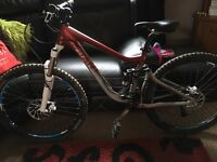 Giant specialised downhill bike