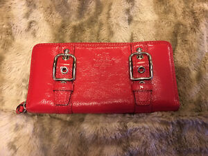 Coach Patent Leather Wallet - Red -Never Used!