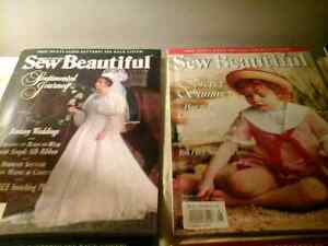 Sew Beautiful magazines (smocking )