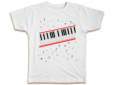 Michael Jackson Piano T-Shirt - Music Beat It Birthday Present Gift Cool