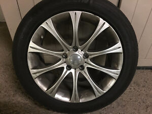 Summer P235/50 R18 with rims - 4 tires