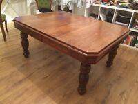 Solid Oak Victorian Table + 4 Chairs