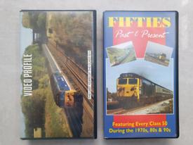 Railway BR Class 50 locomotive VHS videos x 2