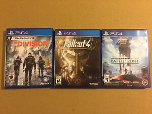 Fallout 4, The Division, SW Battlefront PS4