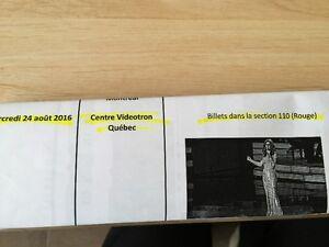 A VENDRE 2BILLETS POUR CÉLINE DION  À QUÉBEC