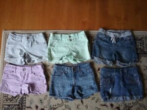 6 pairs of Justice shorts - sizes 8 and 10 - excellent condition