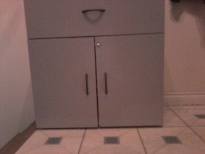 Grey cabinet with drawer