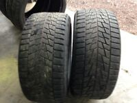 Pair of Michelin 255/40/17 Winter Tires