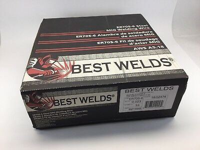 33 Lb Roll Best Welds Premium Er70s-6 .023 Steel Mig Welding Wire Made In Italy