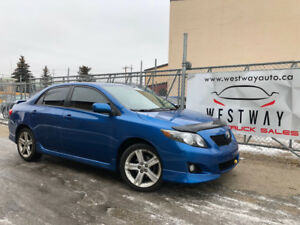 2009 TOYOTA COROLLA XRS HEATED SEATS SUN ROOF HAS 166686 KMS.