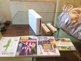 Nintendo Wii Bundle with Fitness Games