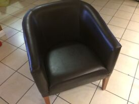 Bucket Chair Faux Leather More Available Good Condition