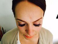 Eyelash extensions and hair and make up