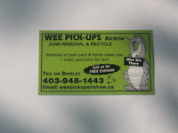 """WEEPICKUPS junk removal """"Airdrie junk removal"""""""