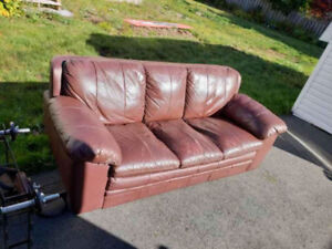 Table and chairs,leather sofa etc