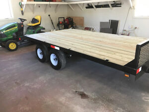 Tandem axles trailer