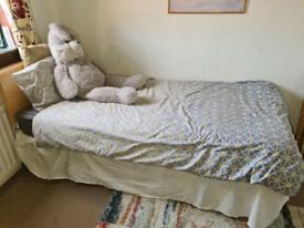 Single bed frame mattress & Headboard