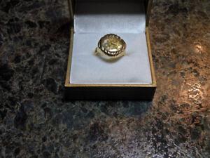 14K Gold Flake Ring