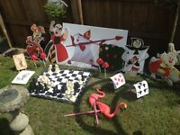 Alice in wonderland mad hatter job lot props/ party/wedding bundle
