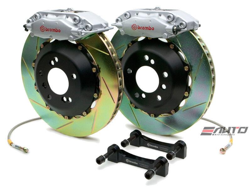 BREMBO Rear GT BBK Big Brake Kit 4piston Silver 328x28 Slot Disc RS4 B5 00-02