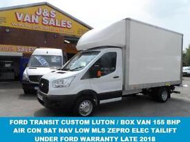 2015 65 FORD TRANSIT CUSTOM TRANSIT CUSTOM LUTON BOX VAN + ZEPRO TAILIFT 155 BHP